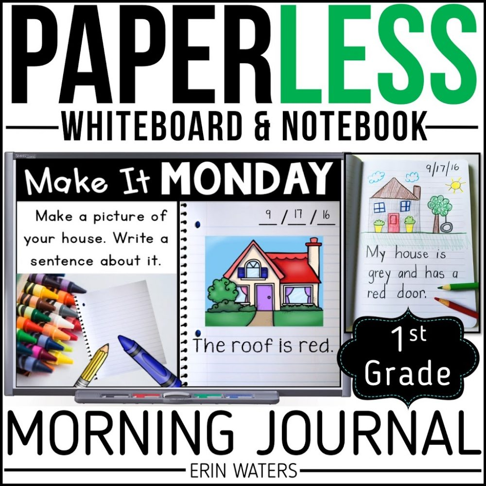 first grade morning journal listing