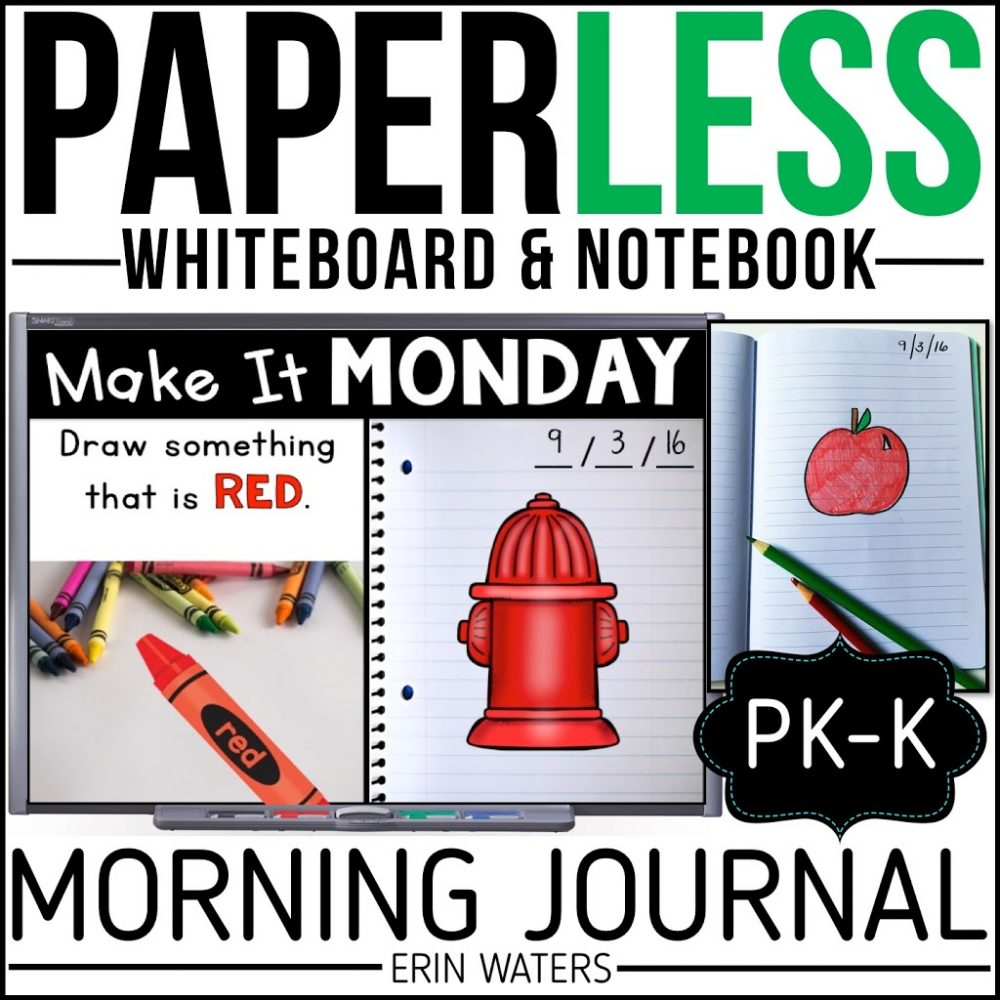 kindergarten morning journal listing