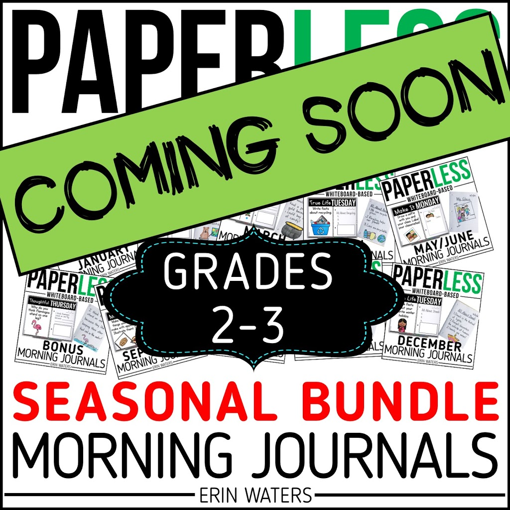 seasonal second and third grade morning journal prompt listing