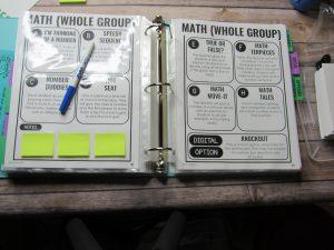 paperless sub plan binder with dry erase marker