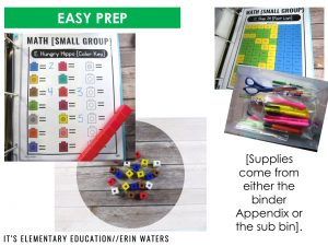paperless sub plan binder with easy prep examples