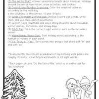 First Grade December Morning Work Pack