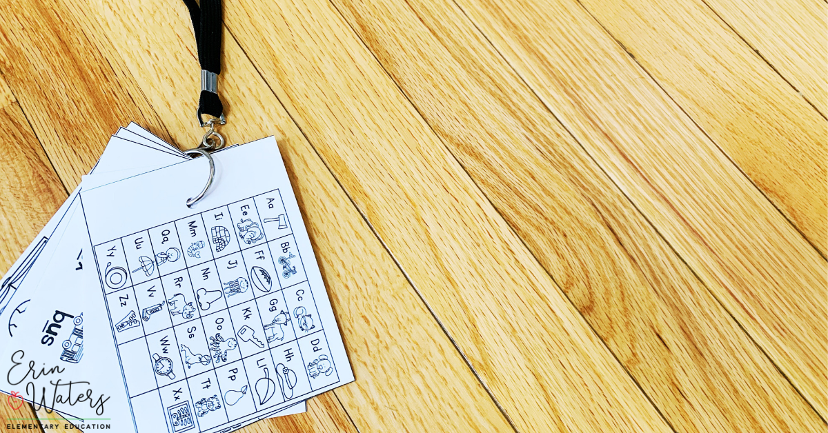 alphabet lanyard for the classroom