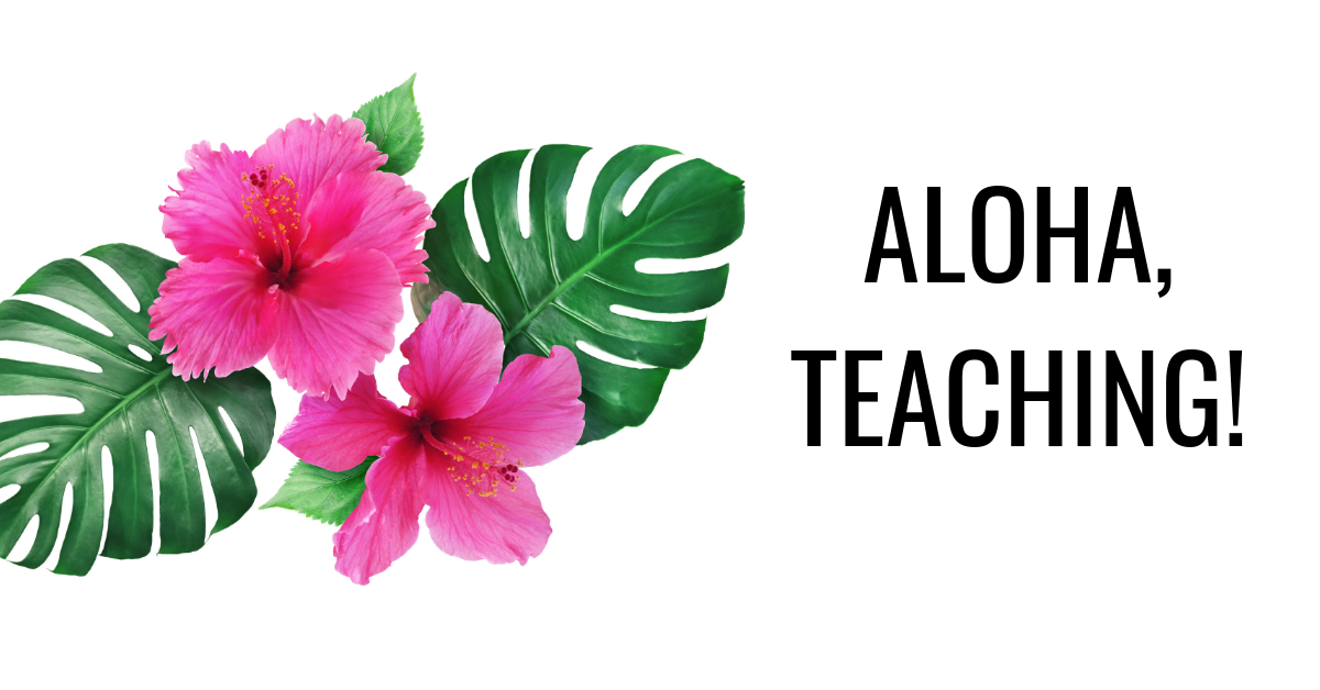 aloha teaching hawaiian flowers