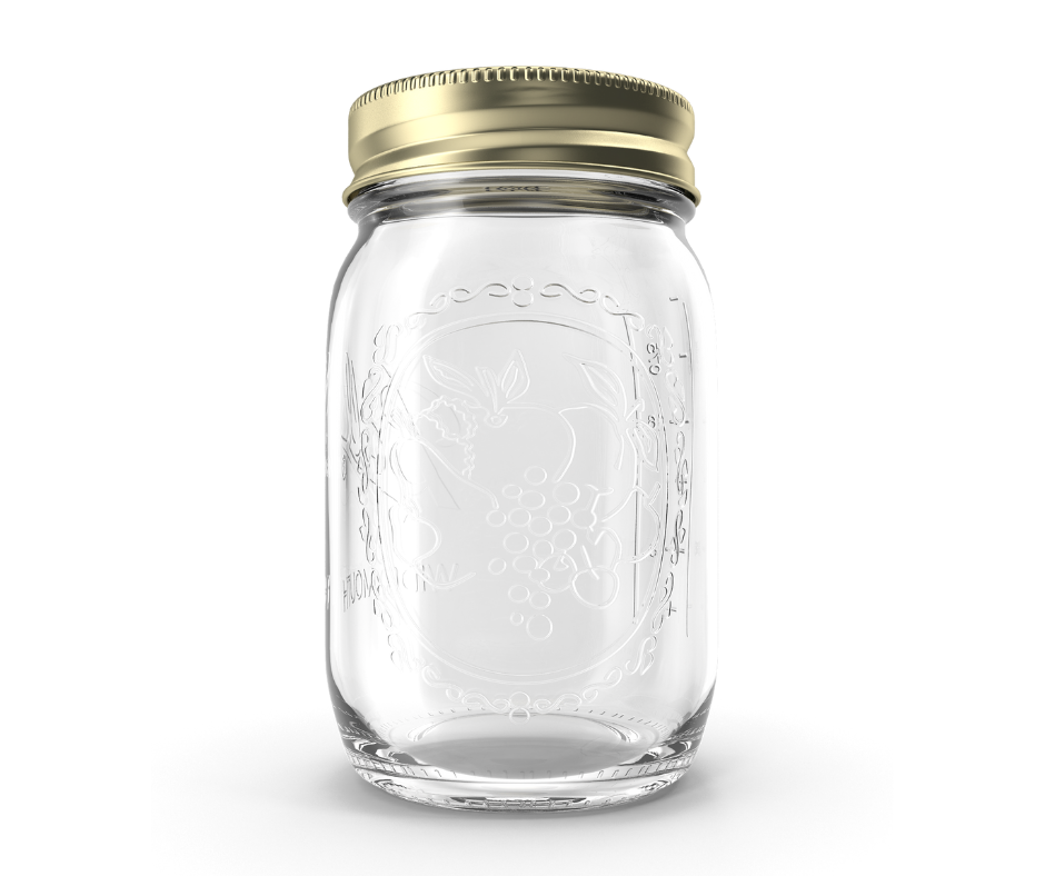 A small Mason jar